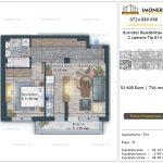 Apartamente de vanzare Burnitei Residential 4 -2 camere tip B14