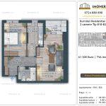 Apartamente de vanzare Burnitei Residential 4 -2 camere tip B18-B26