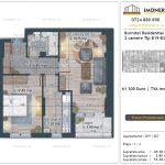 Apartamente de vanzare Burnitei Residential 4 -2 camere tip B19-B27