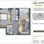 Apartamente de vanzare Burnitei Residential 5 -2 camere tip A13-19