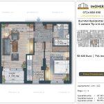 Apartamente de vanzare Burnitei Residential 5 -2 camere tip A16-22