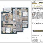 Apartamente de vanzare Burnitei Residential 5 -2 camere tip A17-23