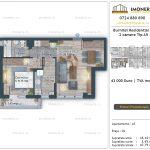 Apartamente de vanzare Burnitei Residential 5 -2 camere tip A5