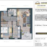 Apartamente de vanzare Burnitei Residential 5 -2 camere tip B19-B27