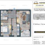 Apartamente de vanzare Burnitei Residential 5 -2 camere tip B21-B29