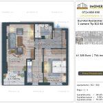 Apartamente de vanzare Burnitei Residential 5 -2 camere tip B22-B30