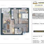 Apartamente de vanzare Burnitei Residential 5 -2 camere tip B23-B31