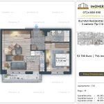 Apartamente de vanzare Burnitei Residential 5 -2 camere tip C10