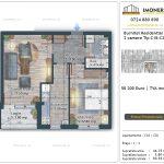 Apartamente de vanzare Burnitei Residential 5 -2 camere tip C18-C26