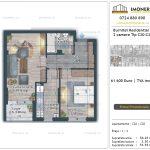 Apartamente de vanzare Burnitei Residential 5 -2 camere tip C19-C27