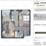 Apartamente de vanzare Burnitei Residential 5 -2 camere tip C21-C29
