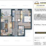 Apartamente de vanzare Burnitei Residential 5 -2 camere tip C22-C30