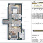 Apartamente de vanzare Burnitei Residential 5 -2 camere tip C9