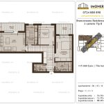 Apartamente de vanzare Brancoveanu Residence 11 -3 camere tip B