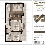 Apartamente de vanzare Siena Residence 3-Corp 2-3 camere tip B