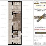 Apartamente de vanzare Siena Residence 3-Corp 4-sc2- 2 camere tip H2