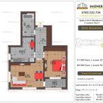 Apartamente de vanzare Splaiul Unirii Residence 2 -2 camere tip A1