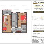 Apartamente de vanzare Splaiul Unirii Residence 2 -2 camere tip D1