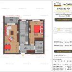 Apartamente de vanzare Splaiul Unirii Residence 2 -2 camere tip D2