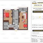 Apartamente de vanzare Splaiul Unirii Residence 2 -2 camere tip E1