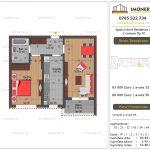Apartamente de vanzare Splaiul Unirii Residence 2 -2 camere tip H1