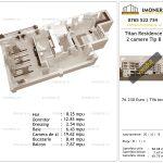 Apartamente de vanzare Titan Residence - 2 camere tip B