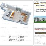 Apartamente de vanzare Titan Residence - garsoniera tip A'
