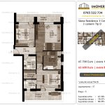 Apartamente de vanzare Siena Residence 3-Corp 1-3 camere tip D