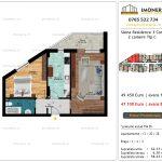 Apartamente de vanzare Siena Residence 3-Corp 3-2 camere tip C