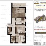 Apartamente de vanzare Siena Residence 3-Corp 3-3 camere tip B