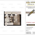 Apartamente de vanzare Siena Residence 3-Corp 4-sc1-Garsoniera tip A1
