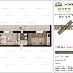 Apartamente de vanzare Siena Residence 3-Corp 4-sc2- Studio tip H2