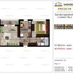 Apartamente de vanzare Pallady - Burnitei Apartments -2 camere tip A'