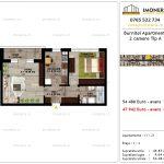 Apartamente de vanzare Pallady - Burnitei Apartments -2 camere tip A