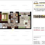 Apartamente de vanzare Pallady - Burnitei Apartments -2 camere tip B'