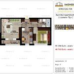 Apartamente de vanzare Pallady - Burnitei Apartments -2 camere tip C'