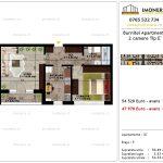 Apartamente de vanzare Pallady - Burnitei Apartments -2 camere tip E'