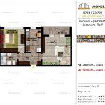 Apartamente de vanzare Pallady - Burnitei Apartments -2 camere tip F