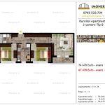 Apartamente de vanzare Pallady - Burnitei Apartments -3 camere tip B