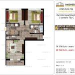 Apartamente de vanzare Pallady - Burnitei Apartments -3 camere tip C