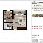 Apartamente de vanzare Pallady - Burnitei Apartments -Garsoniera tip A'