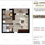 Apartamente de vanzare Pallady - Burnitei Apartments -garsoniera tip A