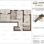 Apartamente de vanzare Brancoveanu Residence 11 -3 camere tip B'-v