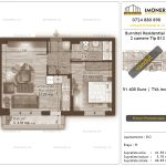 Apartamente de vanzare Burnitei Residential 4 -2 camere tip B12-v
