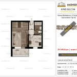 Apartamente de vanzare Siena Residence 3-Corp 4-sc2- Garsoniera tip A2