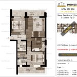 Apartamente de vanzare Siena Residence 3-Corp 2-3 camere tip D_v