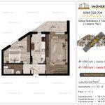 Apartamente de vanzare Siena Residence 3-Corp 3-2 camere tip C_v