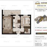 Apartamente de vanzare Siena Residence 3-Corp 3-2 camere tip D_V