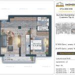 Apartamente de vanzare Burnitei Residential 4 -2 camere tip A3