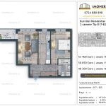 Apartamente de vanzare Burnitei Residential 4 -2 camere tip B17-B25